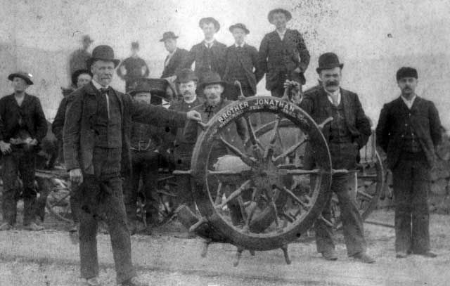 Men with Brother Jonathan Wheel